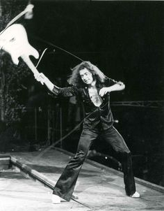 The Man In Black -The incredible Ritchie Blackmore. April 1974 ©Deep Purple (Overseas)