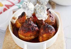 maczugi z kurczaka przepis chicken drumsticks Chicken Drumsticks, Chicken Wings, Wok, Baked Potato, Muffin, Potatoes, Meat, Baking, Breakfast