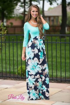 What You've Been Missing Floral Maxi Teal - The Pink Lily
