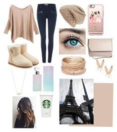 """Paris"" by hailey1011 ❤ liked on Polyvore featuring UGG Australia, Paige Denim, Casetify, Givenchy, Calvin Klein, Aamaya by priyanka, Red Camel and Kendra Scott"