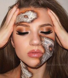 Looking for for ideas for your Halloween make-up? Navigate here for cute Halloween makeup looks. Makeup Eye Looks, Creative Makeup Looks, Eye Makeup Art, Scary Makeup, Sfx Makeup, Dramatic Makeup, Glam Makeup, Cheer Makeup, Extreme Makeup