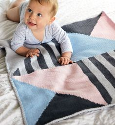 knit baby  blanket by phildar