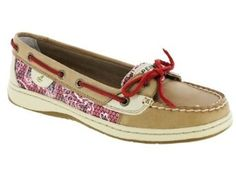Sperry Womens Angelfish Shoes Tan/Red Bandana