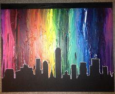 Indianapolis Skyline Crayon Art @RolceArts