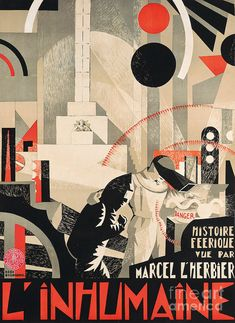 Lithograph Painting - Vintage Film Poster Inhumaine, 1924 by Georges Djo Bourgeois Art Deco Print, Art Deco Design, Marcel, Film Poster, Movie Posters, Drama Film, Vintage Posters, Science Fiction, Films