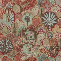 Fabric Love: Menagerie by Bailey & Griffin - The English Room Nautical Prints, Red Fabric, Fabric Art, Print Wallpaper, Flower Show, Drapery Fabric, Paisley Pattern, Vintage Prints, Art Decor