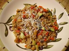 Farro with Vegetables and Chicken Italian Sausage - Powered by @ultimaterecipe