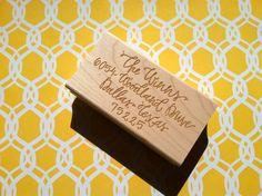 Custom Calligraphy Return Address Stamp via Etsy