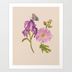 Botanical Art Print by Catherine Holcombe   Society6