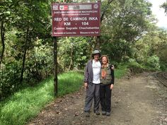 """Nina and Steve about to start their Inca Trail trek from KM104 to Machu Picchu.  Nina later wrote to Fertur: """"Thank you for an incredible trip...still glowing from our 10 days in Peru. people are telling me I look younger! all I know is, it was an unforgettable time, in the best ways."""" #MachuPicchu"""