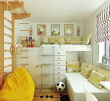 Nordhome Scandinavian nursery kids white and yellow