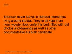 Sherlock Headcanon