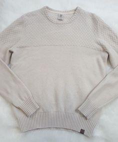 Timberland Mens Wool Blend Sweater Size Medium Crew Neck Pullover Ivory   Timberland  Crewneck  menssweater  mensstyle  mensfashion a5df9bcddb538