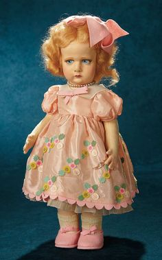 Forever Young - Marquis Antique Doll Auction: 155 Italian Felt Character Girl by Lenci, Series 300, in Pristine Condition