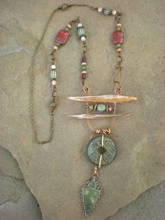IChing amulet necklace by maggiezees on Etsy, $95.00