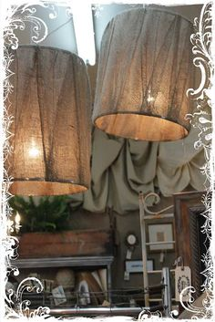 What a good idea diy drum lamp shades made with embroidery hoops burlap shades idea for front entry lights greentooth Gallery