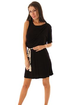 DHStyles Women's Black Stylish Cold Shoulder Toga Dress with Rope Belt - Small #sexytops #clubclothes #sexydresses #fashionablesexydress #sexyshirts #sexyclothes #cocktaildresses #clubwear #cheapsexydresses #clubdresses #cheaptops #partytops #partydress #haltertops #cocktaildresses #partydresses #minidress #nightclubclothes #hotfashion #juniorsclothing #cocktaildress #glamclothing #sexytop #womensclothes #clubbingclothes #juniorsclothes #juniorclothes #trendyclothing #minidresses…