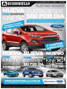 Folleteria impresa Ford Argentina