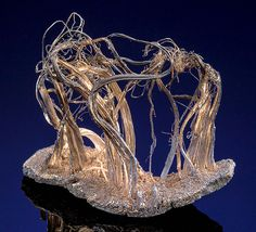 Native Wire Silver and Silver on Acanthite matrix - Old Schneeberg District, Erzgebirge, Saxony, Germany