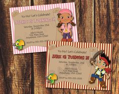 Jake or Izzy & the Neverland Pirates Birthday Printable by suzz377, $5.99