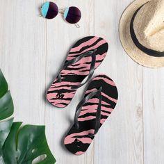 Flip-Flops by HouseofMogul1 on Etsy Flip Flop Sale, Gym Essentials, Womens Flip Flops, Tiger Print, Sporty Style, Fashion 2020, New Shoes, Flipping, Soft Fabrics