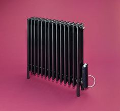 Electric Classic radiator in anthracite Electric Radiators, Column Radiators, Steel Columns, Kitchen Art, Home Appliances, Classic, House Ideas, Mid Century, Walls