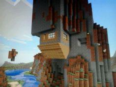 This house is upsidedown. #minecraft Minecraft Pe Seeds, All Minecraft, Minecraft Plans, Minecraft Construction, Amazing Minecraft, Minecraft Blueprints, Minecraft Creations, Minecraft Projects, Minecraft Crafts