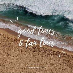 """Good time & tan lines"" -Summer 2018 #summer #goodvibes #quote #goodday #inspo #sun #ocean #beach #sea #swim #vacation #islandlife #hot #blue #white #summeriscoming #vacationtime #season #summerbody #warm #beautiful #sunrays *Make sure to check out my Pinterest for further more inspiring boards: https://www.pinterest.ca/imanakram7/"