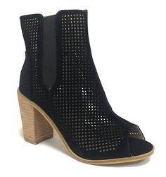 Steven Ella ANGELINA Peep Toe Ankle Bootie Faux Leather Stacked Wooden Heel -- Details can be found by clicking on the image. (This is an Amazon affiliate link)