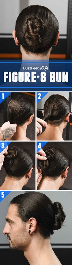 Try This Cool Figure-8 Bun When Your Hair Is Dripping Wet