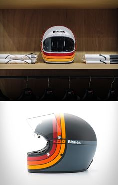 blessthisstuff: Blauer 80´s Helmet - http://bit.ly/1NiFtyvretro inspired helmet, the perfect match for your cafe racer…