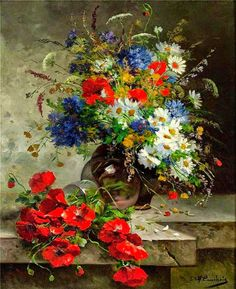Eugene Henri Cauchois | Impressionist Still Life painter