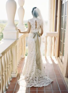 Beautiful lace wedding gown.  So elegant. For more inspiring wedding ideas visit our other Veilability boards or veilability.com.au.