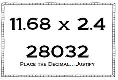Awesome blog post and FREE activity to help students estimate the products/quotients when multiplying and dividing decimals... I like to do this activity as a cold call!
