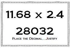 Math Coach's Corner: Multiplying and Dividing Decimals Using Number Sense