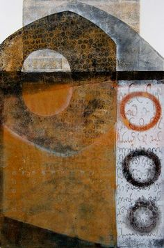 Poetic Parapet - Anne Moore - As the name implies, monotypes are one-of-a-kind… Modern Art, Contemporary Art, Gelli Arts, Encaustic Painting, Dot Painting, Plate Art, Art Graphique, Gravure, Granada