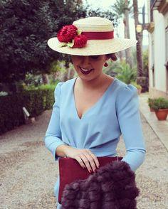 Invitada perfecta, Canotier floral by @martabonaque