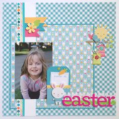 Easter Layout by Traci Penrod - Scrapbook.com