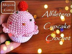 Alfiletero de cupcake a crochet (diestro) - YouTube