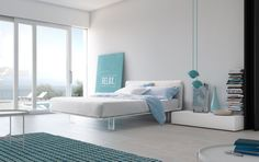 Amazing offer on Pianca Filo: Modern Upholstered King Size Platform Bed. Made Italy. King Size Platform Bed, Bed Platform, Modern Bedroom Design, Contemporary Bedroom, Modern Contemporary, Bedroom Photos, Bedroom Ideas, Bedding Sets Online, Luxury Bedding
