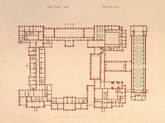 Winter Palace. The Plan of the First Floor - Drawings, Prints and Painting from Hermitage Museum