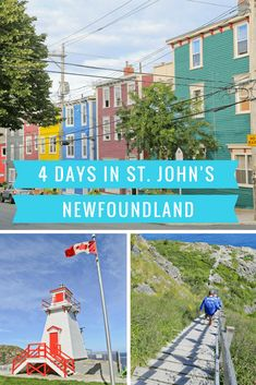 travel pins - Oh, Canada! Four Days in St John's, Newfoundland Newfoundland And Labrador, Newfoundland St Johns, Newfoundland Canada, Canadian Travel, Canadian Rockies, Visit Canada, Canada Trip, Solo Travel, Travel Tips