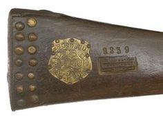 Musket; US Indian Police, Rosebud Agency, 1889, Tack Decorated.