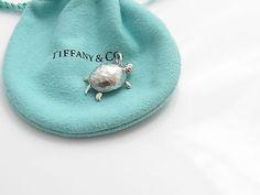 Tiffany & Co RARE Silver Picasso Turtle Tortoise Charm Pendant 4 Necklace