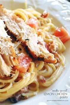 Lemon Chicken Pasta - an easy, delicious dinner idea