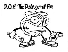 D.O.F The Destroyer of Fun Coloring Page. Team Unthinkables. Superflex Social Thinking.