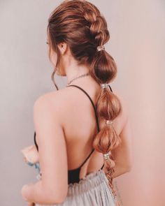 Beautiful Bubble Braids Hairstyle to Upgrade your Look - Braids World 2020 Popular Hairstyles, Hairstyles Haircuts, Trendy Hairstyles, Straight Hairstyles, Braided Hairstyles, Cool Braids, Braids For Short Hair, Braid Styles, Short Hair Styles