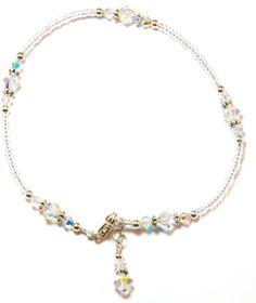 Crystal Sterling Silver Ankle Bracelet por Denistrings en Etsy, $34.00 Silver Ankle Bracelet, Anklet Bracelet, Bracelets, Swarovski, Beaded Necklace, Sterling Silver, Etsy, Jewelry, See Through