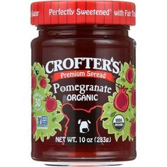Crofters Fruit Spread - Organic - Premium - Pomegranate - 10 Oz - Case Of 6