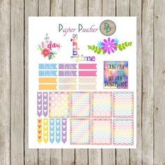 Spring is here!! Celebrate making it through the winter with this fun Monthly Theme Planner Kit. Filled with enough stickers to last the entire